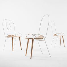 Le studio chinois Atelier Deshaus présente une collection de chaises alliant la chaleur du bois et l'élasticité du fer forgé dont il explore toutes les possibilités. ...