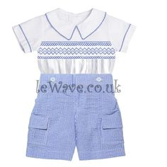 Elegant UK traditional boys smocked outfit  LB 02