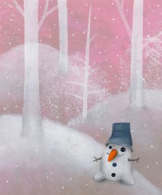 Splashes in the World: The illustrations Catherine Zarip: imaginary children Winter Illustration, Children's Book Illustration, Illustration Children, Book Illustrations, All Things Christmas, Christmas Fun, Christian Robinson, Build A Snowman, Cool Paintings