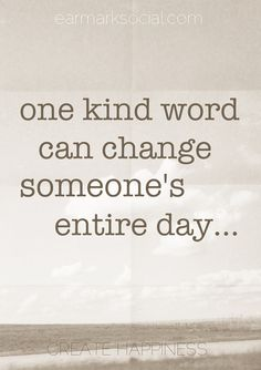 One Kind Word. » Stop by and say HI on our facebook page, we would love to get to know you!