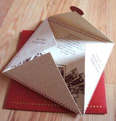 I like the way this wedding invitation is folded