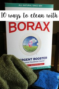 Borax is such an awesome multipurpose cleaner! Check out my fave Top 10 DIY Uses for Borax and never buy full price cleaning products again! By Michelle Borax Cleaning, Household Cleaning Tips, Deep Cleaning Tips, House Cleaning Tips, Cleaning Solutions, Spring Cleaning, Kitchen Cleaning, Bathroom Cleaning, Green Cleaning