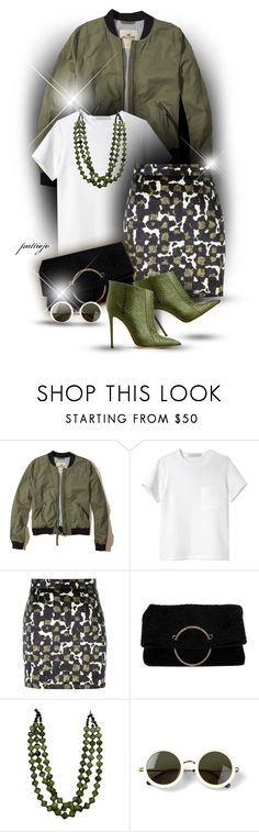 """Bombers and Booties"" by rockreborn ❤ liked on Polyvore featuring Hollister Co., Proenza Schouler, Dsquared2, Victoria Beckham, Gianvito Rossi and The Row"