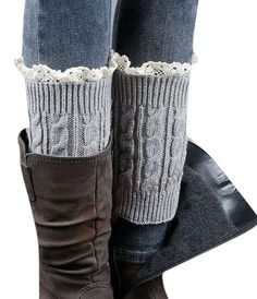 Lingswallow Women Girl Grey Winter Lace Kint Leg Warmer Socks Christmas Gift. Material: 100% Acrylic Fibers. Features: You'd better wash it by hands in water.There is a little difference about colour problem between the webpage and the real project, please be attention to it.All products of our brand is free shipping,it cost about 7 to 14 days for the express de. Please allow little color difference due to different camera or light environment. Free shipping, delivery time is 8-14...