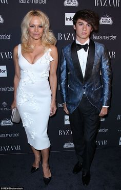 A family affair!Pamela Anderson was accompanied by her youngest son, Dylan Jagger, 18, to aHarper's Bazaars bash in New York City on Friday