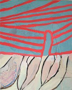 """Sarah Boyts Yoder Trunks Detail 2012 Mixed media on canvas 16""""x13"""""""