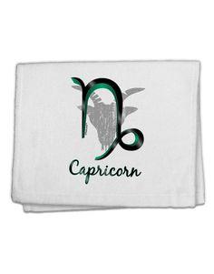 "Capricorn Symbol 11""x18"" Dish Fingertip Towel"