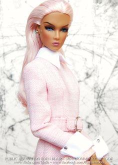 Public Adoration Eden in Shantommo Barbie Hair, Doll Clothes Barbie, Barbie And Ken, Barbie Dress, Fashion Royalty Dolls, Fashion Dolls, Black Barbie, Pink Barbie, Barbie Party