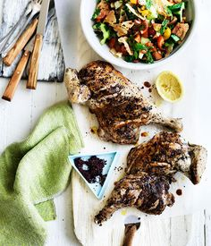 Sumac-crusted chicken with fattoush