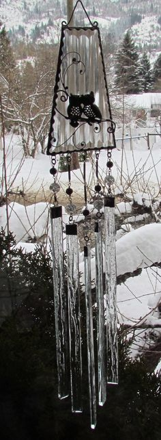 Crystal Clear Glass Wind Chime