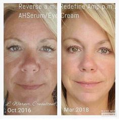A great analogy!!  Consistency folks. You can't eat a salad for a few days a week then crap the rest of the week and get desired results.   Taking care of your face is the same! Get the #1 skincare on your face EVERY DAY and see results like hers.   Texture, tone, fine lines all improved!