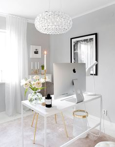 Light and airy office | Home Office Organization in 2019 | Pinterest ...