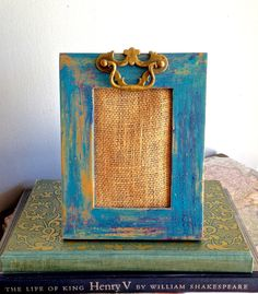Photo Frame Wood Upcycled Distressed Painted by PippinPost on Etsy, $18.00