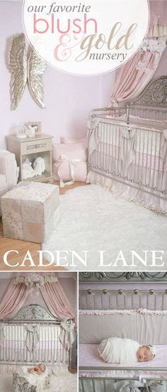 This gorgeous blush & gold nursery is absolutely glamorous! Get the look + all the details here.