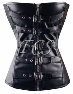 ba8ed5691d Sexy leather buckle corset with a lace-up ribbon back. Or maybe a red satin  skirt!