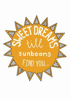 sweet dreams and sunbeams. via Etsy.