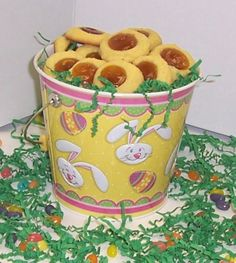 Scott's Cakes 2 lb. Apricot Butter Cookies in a Yellow Bunny Pail -- Continue to the product at the image link.