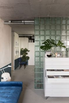 Studio11's new office is a reinterpretation of modernist movement with a contemporary twist, complete with curved shapes and deliberate colour choices.