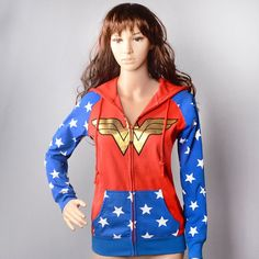 Wonder Woman Foil Crown Junior Hoodie Women Sweatshirts Kawaii Women Hoodie Anime Women's Clothing