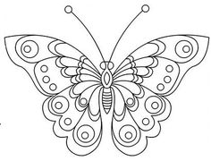 Resultado de imagen para bordado mexicano mariposas para colorear