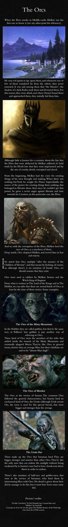 Orcs - J.R.R. Mythology