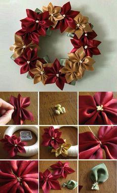 Símbolo de prosperidade e sorte, a guirlanda é o primeiro convite para a entrada do espírito natalino em uma casa. Pendurá-la na porta é uma tradição antiga. Wreath Crafts, Diy Wreath, Christmas Projects, Holiday Crafts, Holiday Fun, Burlap Wreaths, Wreath Making, Burlap Bows, Wreath Ideas