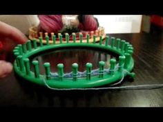 Loom knitted Butterfly stitch - YouTube