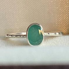 Natural Emerald Ring Solid Silver 925K Sterling Silver 24K   Etsy Sapphire Stone, Amethyst Stone, Pretty Rings, Beautiful Rings, 925 Silver, Silver Rings, Sterling Silver, May Birthstone Rings, Natural Emerald Rings