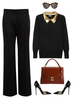 modern lady by yanann on Polyvore featuring polyvore, fashion, style, Markus Lupfer, Nicole Farhi, Jimmy Choo, Mark Cross, Karen Walker, modern, women's clothing, women's fashion, women, female, woman, misses and juniors