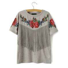 shop for New Women Stylish Fringe Flower T Shirt and more for everyday cheap prices at Lalalilo.com - Your Online Womens Clothes Store