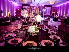 Purple Wedding Decor #purple #wedding #decor