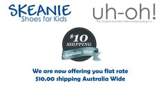 NEW $10 flat rate shipping Australia wide. Retail orders only. #greatrate Flat Rate, Sleeping Bag, Kid Shoes, Baseball Hats, Retail, Kids, Australia, Young Children, Baseball Caps