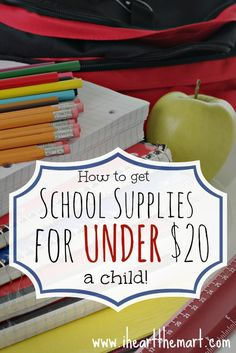 How to get Back to School Supplies for UNDER $20 a child.
