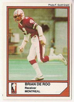 Brian De Roo CFL card 1984 Jogo #104 Montreal Concordes  Redlands Bulldogs