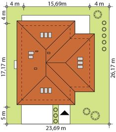 Usytuowanie projektu na działce My House Plans, Small House Plans, Modern Bungalow House, Wood Carving, Building A House, Building Ideas, Planer, Bar Chart, Projects To Try