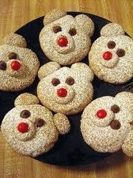 Cinnamon Polar Bears ~ Super cute cookies perfect for the Holidays or just anyday.