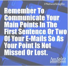 #Networking Rx: When is an e-mail too long?
