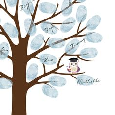 Graduation Thumbprint Tree Guest Book Poster by ByYolanda on Etsy, €15.00