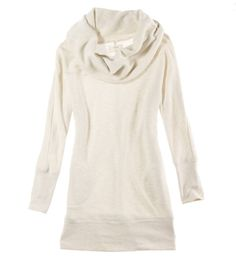 Aerie French Terry Tunic. Perfect fall outfit with leggings & ballet flats.