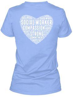 Social Worker Word Heart Shirts!