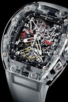 Un reloj de caja enteramente en cristal de zafiro transparente es una de las piezas m%C3%A1s caras del mundo. Hablamos del RM056 de Richard Mille, que ha sorprendido al mundo con sus interminables horas de trabajo. La t%C3%A9cnica de fabricaci%C3%B3n es garantizada por la firma y el calibre est%C3%A1 dotado de proezas t%C3%A9cnicas que valoran los entusiastas y coleccionistas. Este reloj es...
