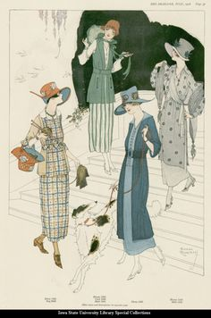 Day dresses, 1918, The Designer