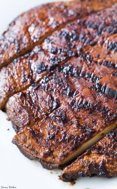 Thick, juicy and perfect Vegan Portobello Steaks made with garlic-soy marinade…