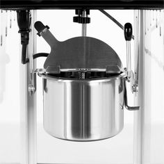 Volcano Movie Night Popcorn Machine Stainless Steel - How can you take a nice movie night at home to the next level? With the Klarstein Volcano Popcorn Machine, the answer is simple: with delicio Stainless Steel Kettle, Homemade Popcorn, Pop Corn, Fun Cooking, Rice Cooker, Volcano, Kitchen Appliances, Canning, This Or That Questions