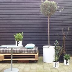 #designletters We spent the Easter holiday creating a little urban garden in Copenhagen  Tomorrow we will add some cup up + more plants on the wall  #designletters #designletters&friends#...