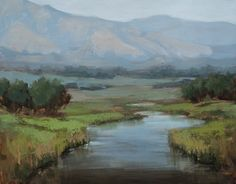 Jane Hunt, Boulder Creek, oil, 11 x 14.
