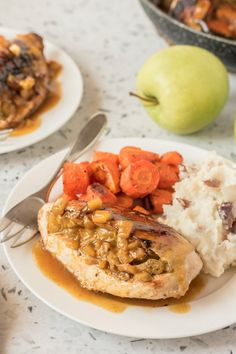 Chicken Breasts with Curried Apple Stuffing