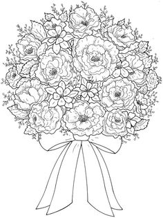 Coloring Pages Flowers And Hearts. Coloring page Flowers, Free to print. Here you can find our coloring pages flowers for free printing. In the coloring pages we have ros. Flower Coloring Pages, Mandala Coloring, Coloring Book Pages, Printable Coloring Pages, Coloring Sheets, Dover Publications, Digi Stamps, Free Coloring, Colorful Pictures