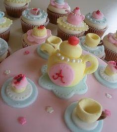 Darling Tea Party Cake & Cupcakes!