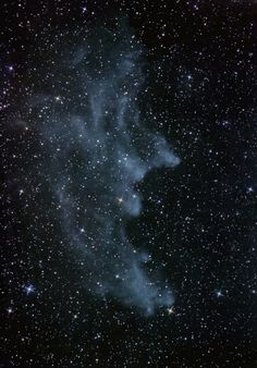 The Witch Head is a favorite around Halloween and is located in the constellation Orion, near the bright star Rigel.